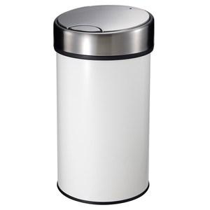 HomeZone 按壓式垃圾桶 30L 米白色