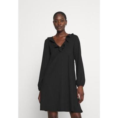 レディース ドレス CRINKLE DRESS - Day dress - black