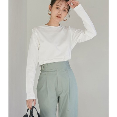 ビス ViS 肩タックロングTシャツ (オフホワイト(15))