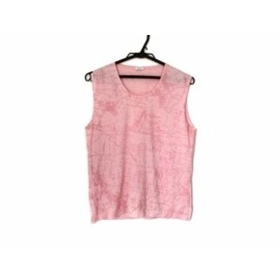 ヘルノ HERNO ノースリーブセーター サイズ46 L レディース 美品 ピンク【還元祭対象】【中古】20200714