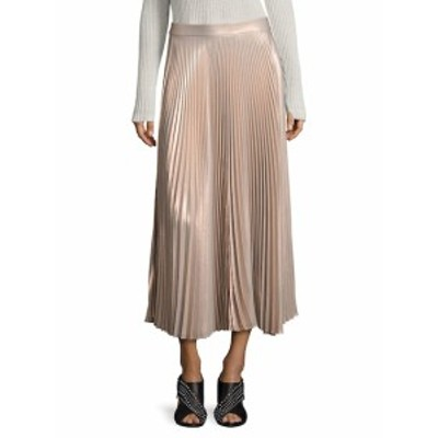 レディース スカート Bobby Metallic Pleated Maxi Skirt