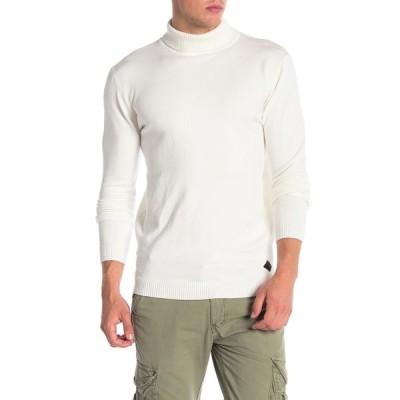エックスレイ メンズ ニット&セーター アウター Turtleneck Pullover Sweater WHITE