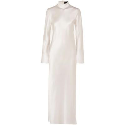 MICHAEL LO SORDO ロングワンピース&ドレス アイボリー 10 シルク 100% ロングワンピース&ドレス