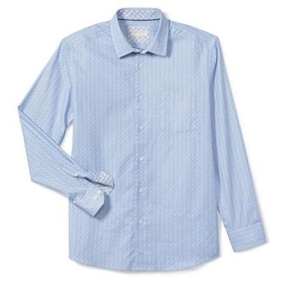 ジョンストンアンドマーフィー レディース シャツ トップス Collection Textured Windowpane Long-Sleeve Woven Shirt