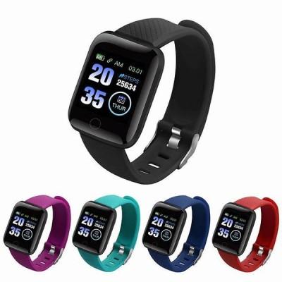 スマートbluetoothの 腕時計 2020男性女性 スポーツ フィットネストラッカーブレスレット血圧 防水 116プラス スマートウォッチ