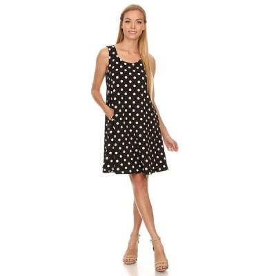 アンブランデッド レディース Polka Dot Polyester and Spandex Sleeveless Dress