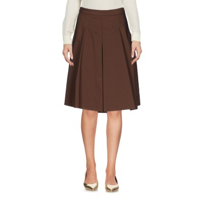 カオス KAOS ひざ丈スカート ブラウン 44 コットン 62% / ポリエステル 33% / ポリウレタン 5% ひざ丈スカート