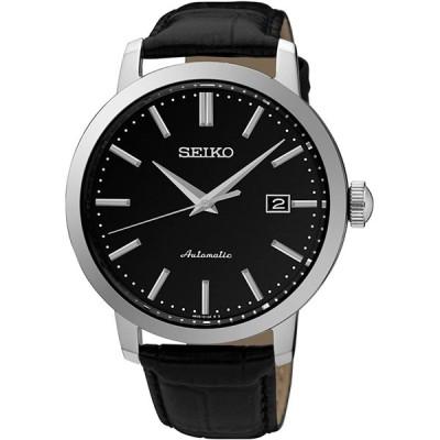 腕時計  Seiko Classic Automatic Black Dial Black Leather Men's Watch SRPA27 輸入品