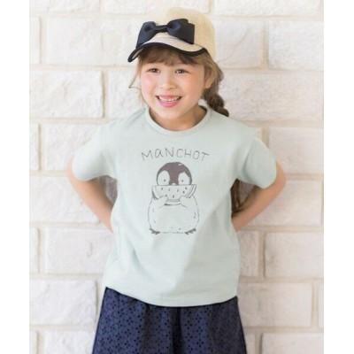 any FAM/エニィファム オーガビッツアニマルTシャツ ライトグリーン(ペンギン) 130