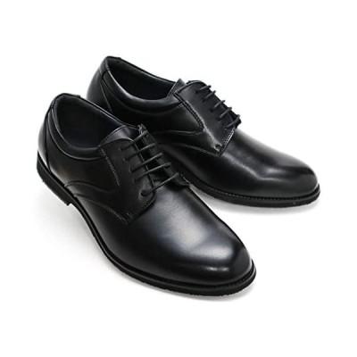 [アシスタント] ビジネスシューズ 5E 幅広 メンズ 紳士靴 ビッグサイズ 大きいサイズ EEEEE (ブラック 25.5 cm 5E)