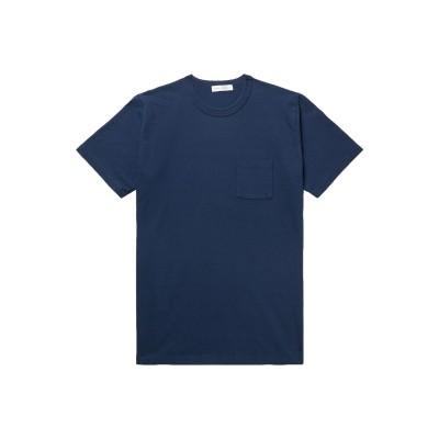 FABRIC-BRAND & CO. T シャツ ダークブルー S コットン 100% T シャツ
