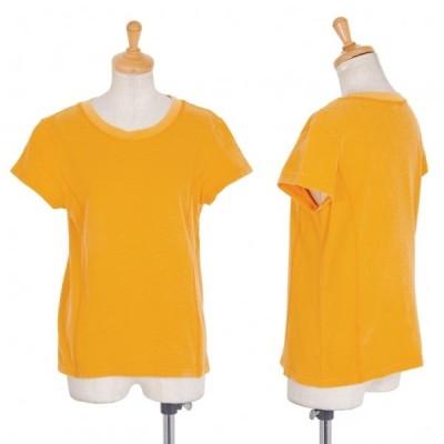レキップヨシエイナバL'EQUIPE YOSHIE INABA 袖ロゴ刺繍鹿の子半袖Tシャツ オレンジM 【レディース】