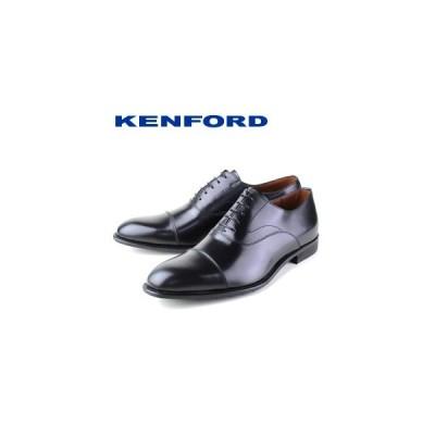 ケンフォード KENFORD KB48 ABJEB 黒 ブラック 幅広 4E メンズ ビジネスシューズ ストレートチップ リーガルコーポレーション 革靴 大きいサイズ