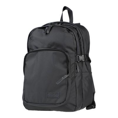 イーストパック EASTPAK バックパック&ヒップバッグ ブラック ポリエステル 100% / 革 バックパック&ヒップバッグ