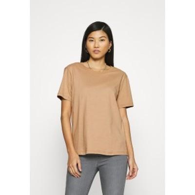 ジン レディース Tシャツ トップス Botanical dyed top - Basic T-shirt -  tan tan