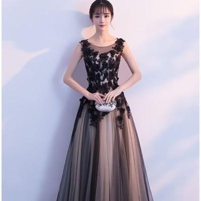 刺繍ワンピース パーティードレス Aライン ロングドレス 結婚式 ドレス お呼ばれ ワンピース 20代 30代 披露宴 上品