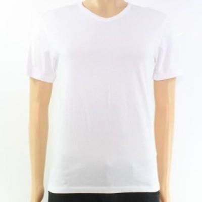 BOSS ボス ファッション トップス Boss Hugo Boss NEW White V-Neck Mens Small S Solid Tee Knit T-Shirt