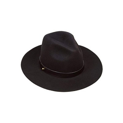Lack of Color Women's The Prism Tall Luxe Wool Fedora (Black/Black, SM (55cm))