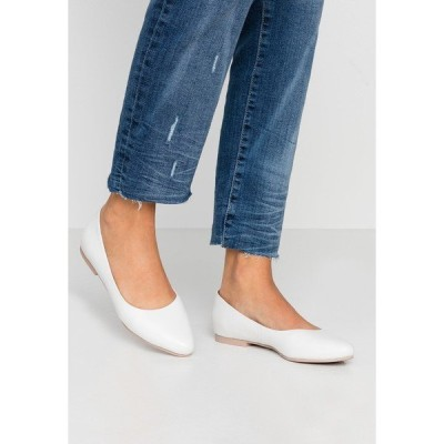 アンナフィールド パンプス レディース シューズ LEATHER BALLERINAS - Ballet pumps - white