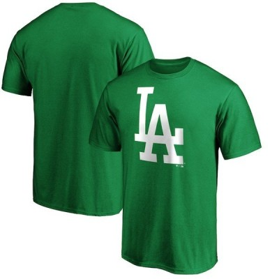 ファナティクス ブランデッド メンズ Tシャツ トップス Los Angeles Dodgers Fanatics Branded Big & Tall St. Patrick's Day White Team Logo T-Shirt