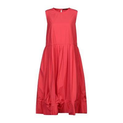HIGH by CLAIRE CAMPBELL 7分丈ワンピース・ドレス コーラル 40 コットン 100% 7分丈ワンピース・ドレス