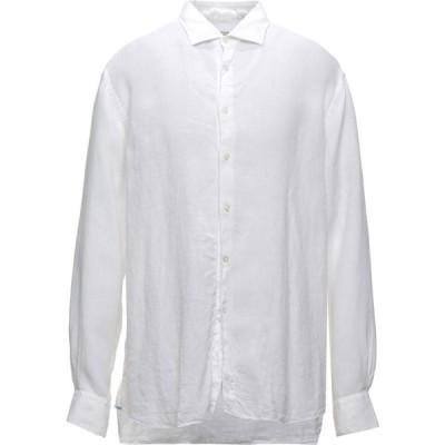 ザカス XACUS メンズ シャツ トップス linen shirt White