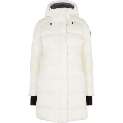 カナダグース Canada Goose レディース ダウン・中綿ジャケット アウター Alliston white quilted shell coat White