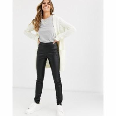 ヴェロモーダ Vero Moda レディース ボトムス・パンツ Faux Leather Trousers ブラック