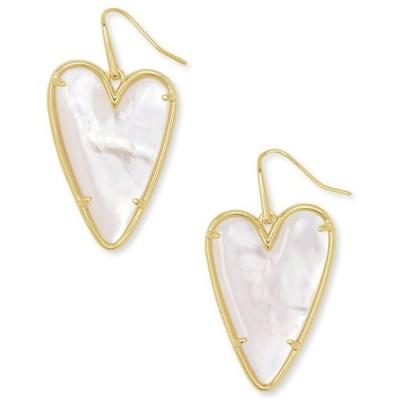 ケンドラスコット レディース ピアス・イヤリング アクセサリー 14k Gold-Plated Gemstone Heart Drop Earrings