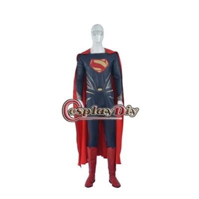 高品質 高級コスプレ衣装 バットマンvsスーパーマン ジャスティスの誕生スーパーマンコスチュームDawn of Justice Superman Cosplay Costume