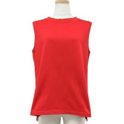 EMMEL REFINES エメルリファインズ ユナイテッドアローズ Tシャツ トップス レッド 赤 カットソー ノースリーブ 裾スリット クルーネック