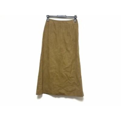 バーバリーズ Burberry's ロングスカート サイズ40 M レディース 美品 - ブラウン フェイクスエード【中古】20201108