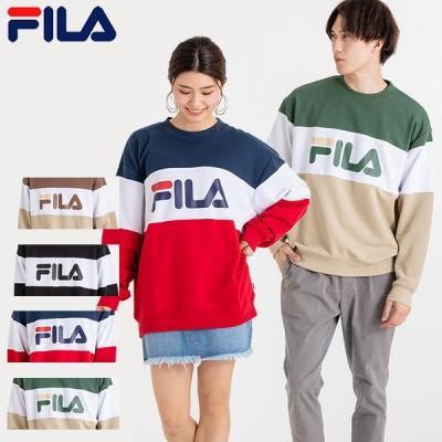フィラ FILA メンズ トレーナー 長袖 オーバーサイズ ドロップショルダー ビッグシルエット 厚手 ワイドシルエット ロゴ おしゃれ 服 2020秋 FM5411