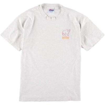80年代 ヘインズ Hanes 両面プリントTシャツ USA製 メンズL ヴィンテージ /eaa108231
