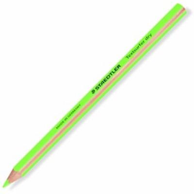 ステッドラー テキストサーファー ドライ 蛍光色鉛筆(太軸) ネオングリーン 1セット(12本)