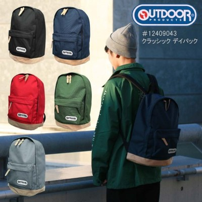 OUTDOOR PRODUCTS リュックサック 12409043 クラッシック デイパック 合皮スエード底 メンズ レディースアウトドア プロダクツ バックパック