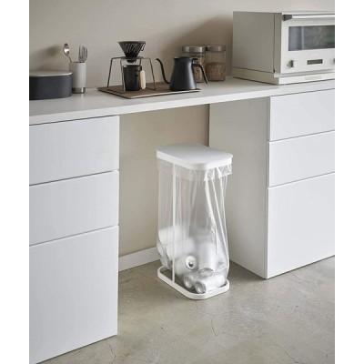 横開き分別ゴミ袋ホルダー ゴミ箱 ダストボックス ワイド 分別 30L 40L キッチン ホワイト ブラック