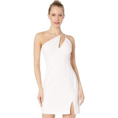 ビーシービージーマックスアズリア BCBGMAXAZRIA レディース パーティードレス カクテルドレス One Shoulder Cut Out Short Cocktail Dress Off-White
