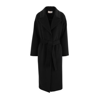 KAOS JEANS コート ブラック 46 ポリエステル 75% / レーヨン 20% / ポリウレタン 5% コート