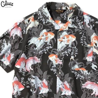 クラクト CLUCT KINGYO-S-SH (BLACK) #04032 メンズ シャツ 半袖 アロハ ブラック