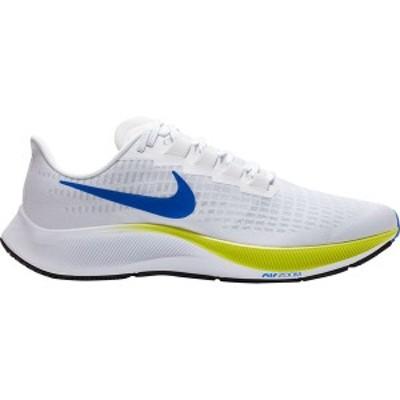 ナイキ メンズ ランニング スポーツ Air Zoom Pegasus 37 Running Shoe - Men's White/Racer Blue-Cyber-Black