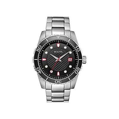 Bulova Sport Black Dial Stainless Steel Men's Watch 98A195 並行輸入品