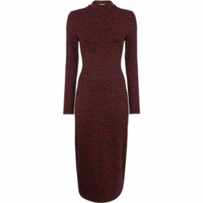 ホイッスルズ Whistles レディース ボディコンドレス ワンピース・ドレス Jersey Jacquard Bodycon Dress Burgundy