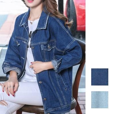 韓国 ファッション レディース アウター ブルゾン 春 夏 秋 カジュアル ダメージ加工 メンズライク ビッグシルエット naloI026 20代 30代 40代