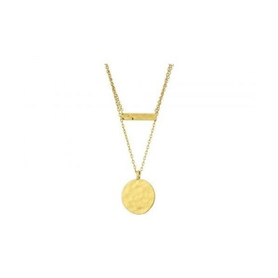 Madewell レディース 女性用 ジュエリー 宝飾品 ネックレス Fine Hammered Stick Pendant Necklace - Vintage Gold