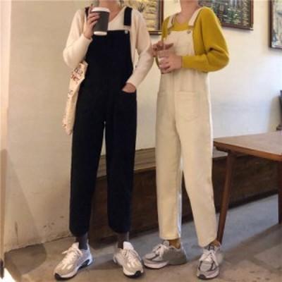 レディース サロペット オーバーオール オールインワン カジュアル デート かわいい カジュアル レトロ 大人可愛い 韓国ファッション