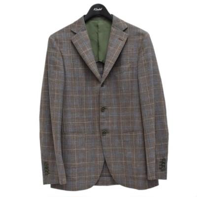 Custom Tailor BEAMS×LORO PIANA チェック柄テーラードジャケット ブラウン サイズ:不明 (梅田クロス茶屋町店) 2104