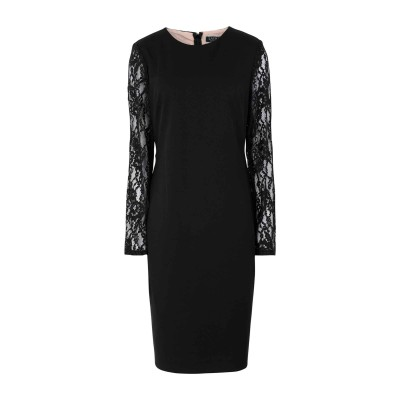 LAUREN RALPH LAUREN ミニワンピース&ドレス ブラック 4 ポリエステル 94% / ポリウレタン 6% ミニワンピース&ドレス