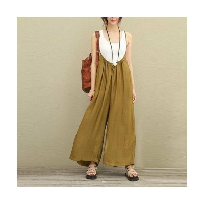 サロペット 黒 コーデ 20代 30代 40代 50代 ファッション 女性 カジュアル 大きいサイズ ゆったり ロング ワイド 無地 シンプル ベージュ ブラック