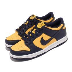 Nike 休閒鞋 Dunk Low GS 運動 女鞋 經典款 密西根 皮革 滑板 球鞋 穿搭 藍 黃 CW1590-700 [ACS 跨運動]